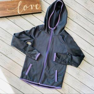 Justice zip up hoodie sweatshirt sweater jacket